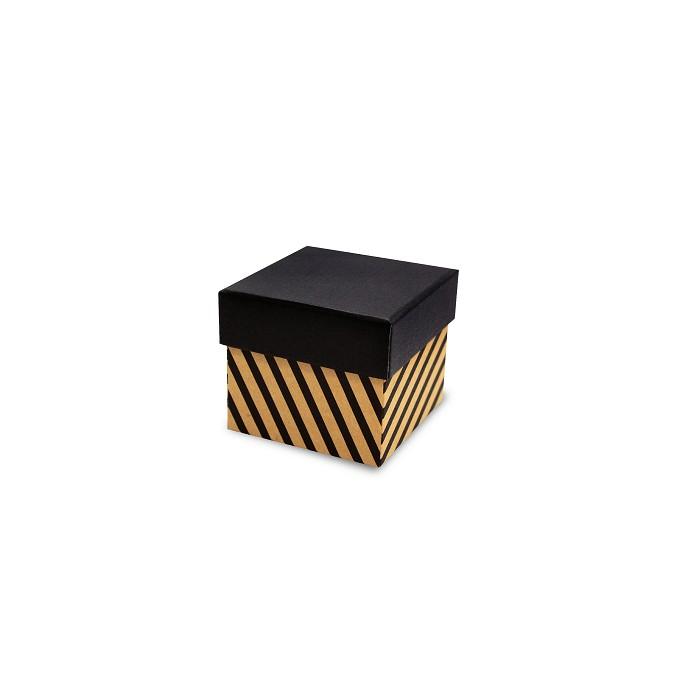 【柏格文具】幾何風禮物盒S-斜線黑