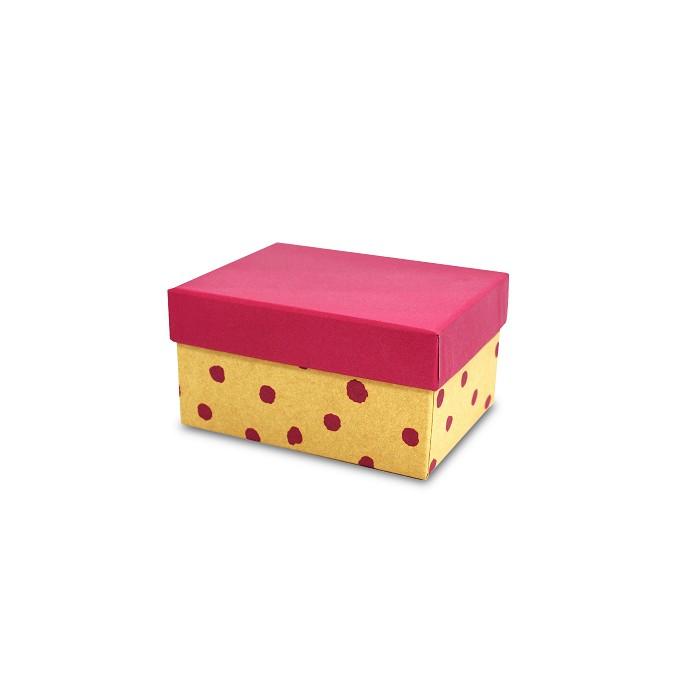 【柏格文具】幾何風禮物盒M-點點紅