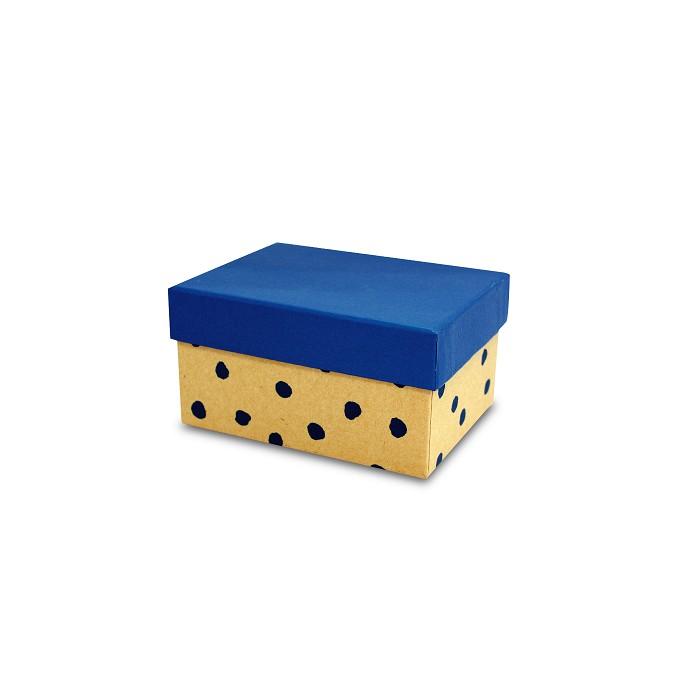 【柏格文具】幾何風禮物盒M-點點藍