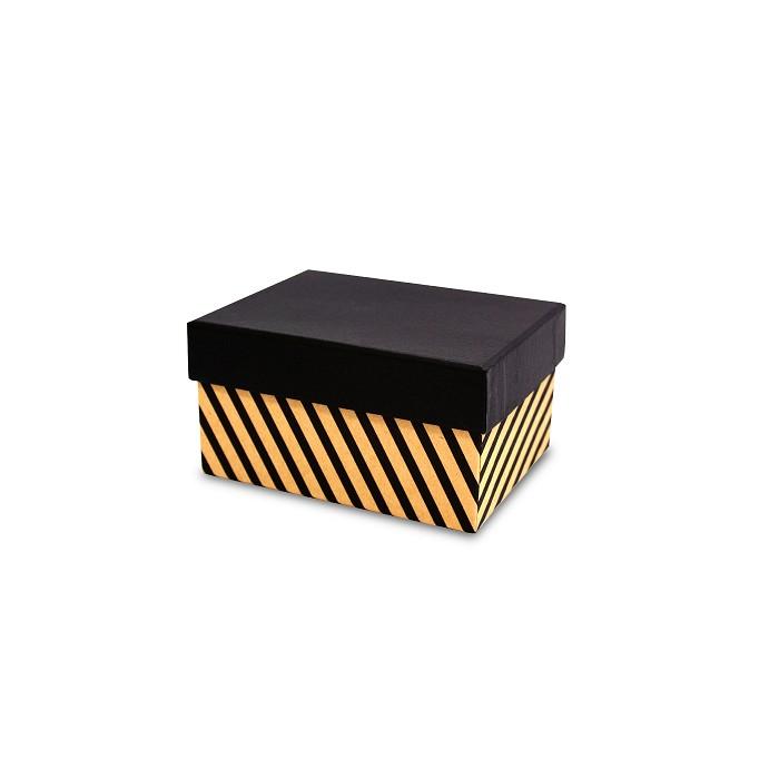 【柏格文具】幾何風禮物盒M-斜線黑