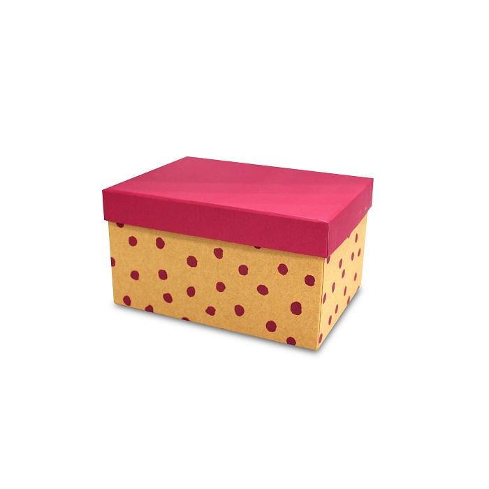 【柏格文具】幾何風禮物盒L-點點紅