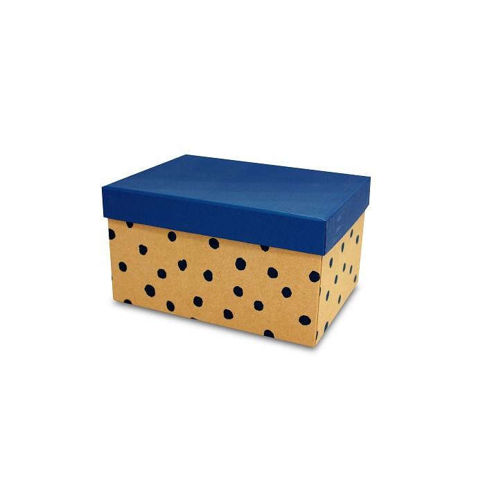 【柏格文具】幾何風禮物盒L-點點藍