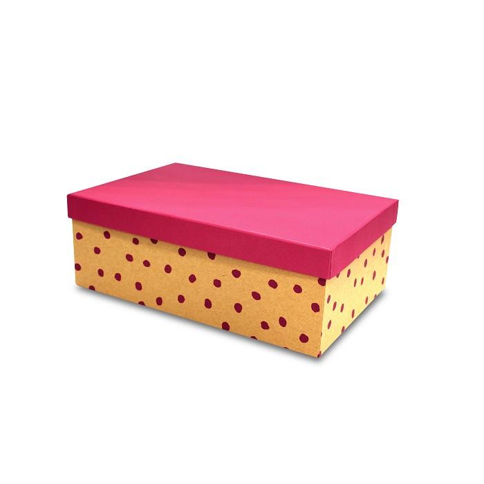 【柏格文具】幾何風禮物盒XL-點點紅