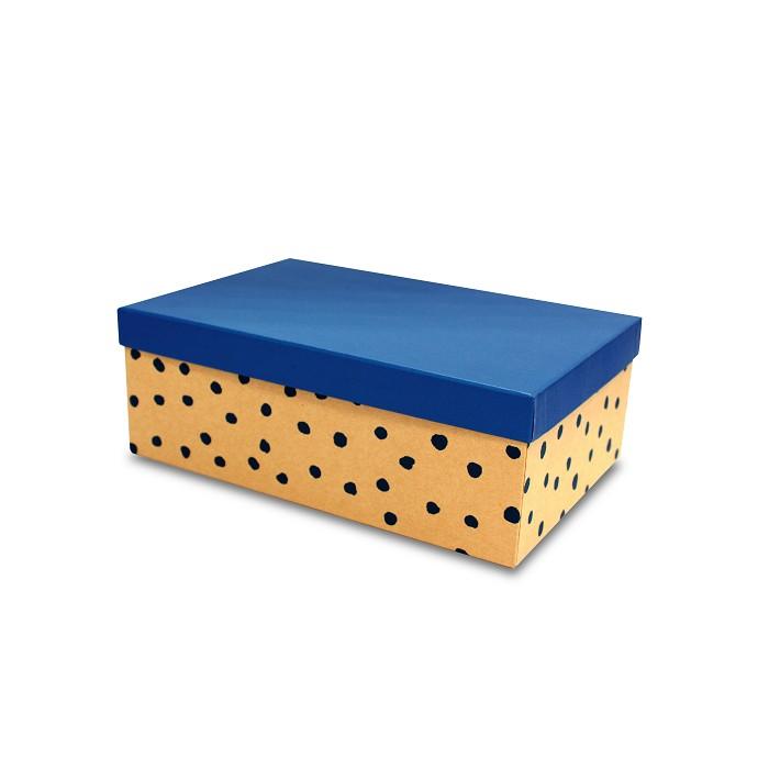 【柏格文具】幾何風禮物盒XL-點點藍