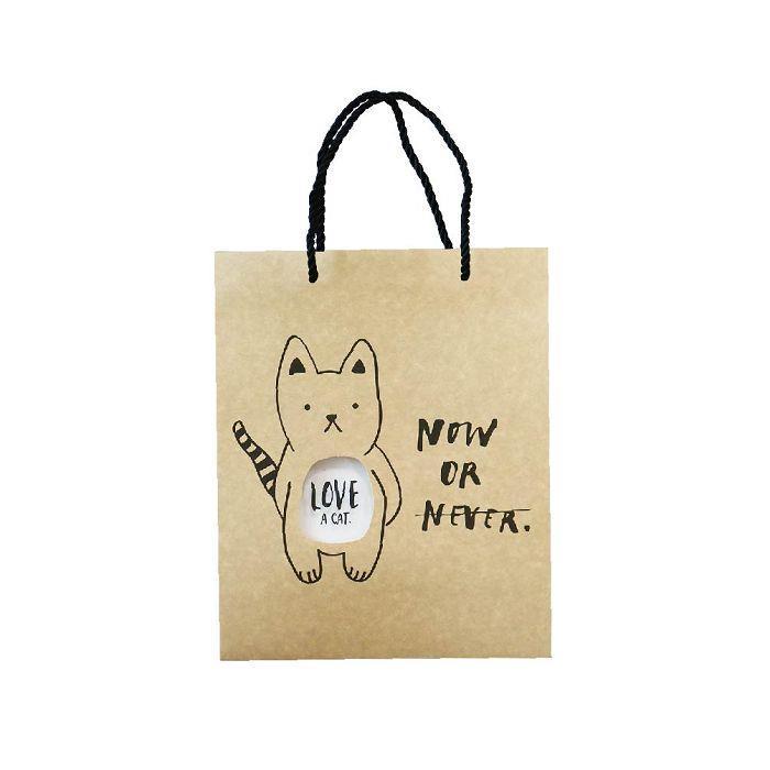 簡單生活-大牛皮禮物提袋-貍貓