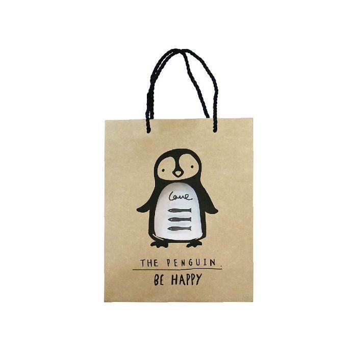 簡單生活-中牛皮禮物提袋-企鵝