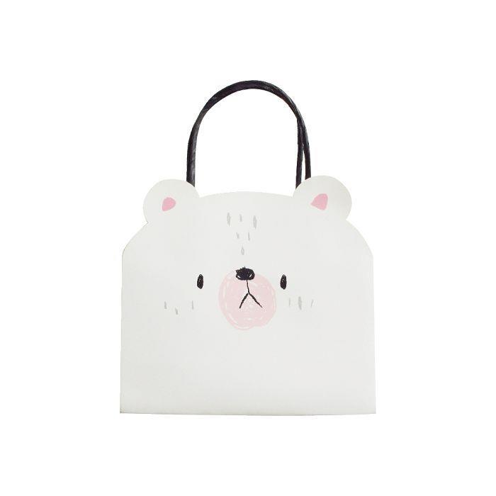 動物造型提袋(小)-白熊
