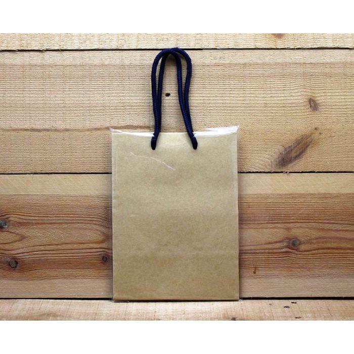小禮物紙袋(長方形牛皮色)
