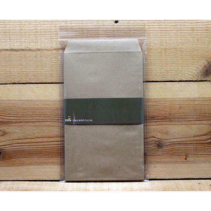 平口禮物袋(8入)牛皮色