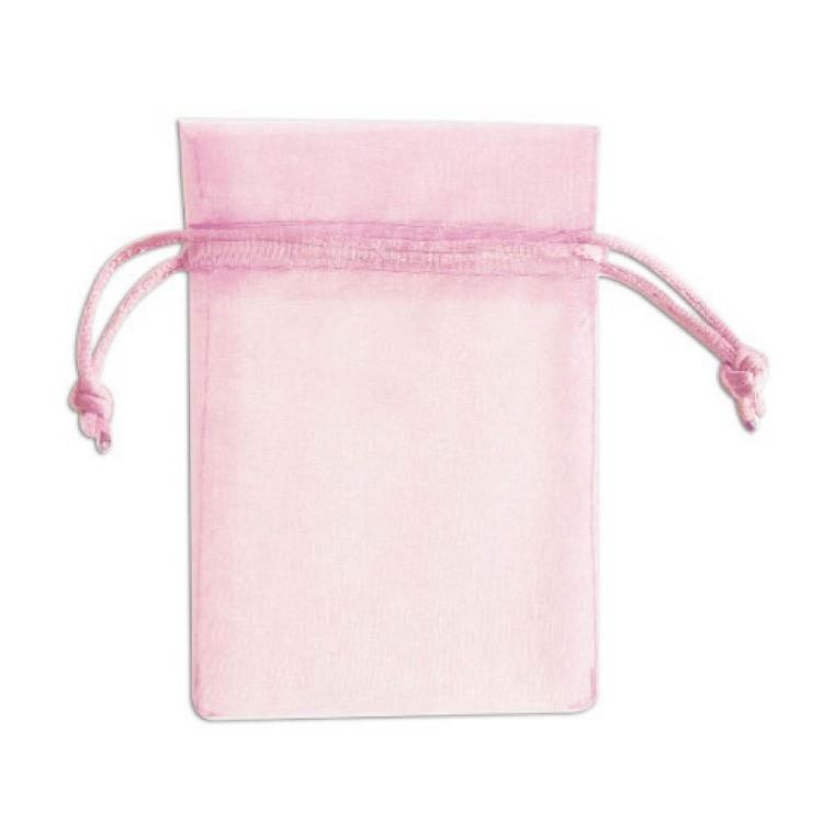 簡單生活-純色紗網禮物袋3入(大)-粉