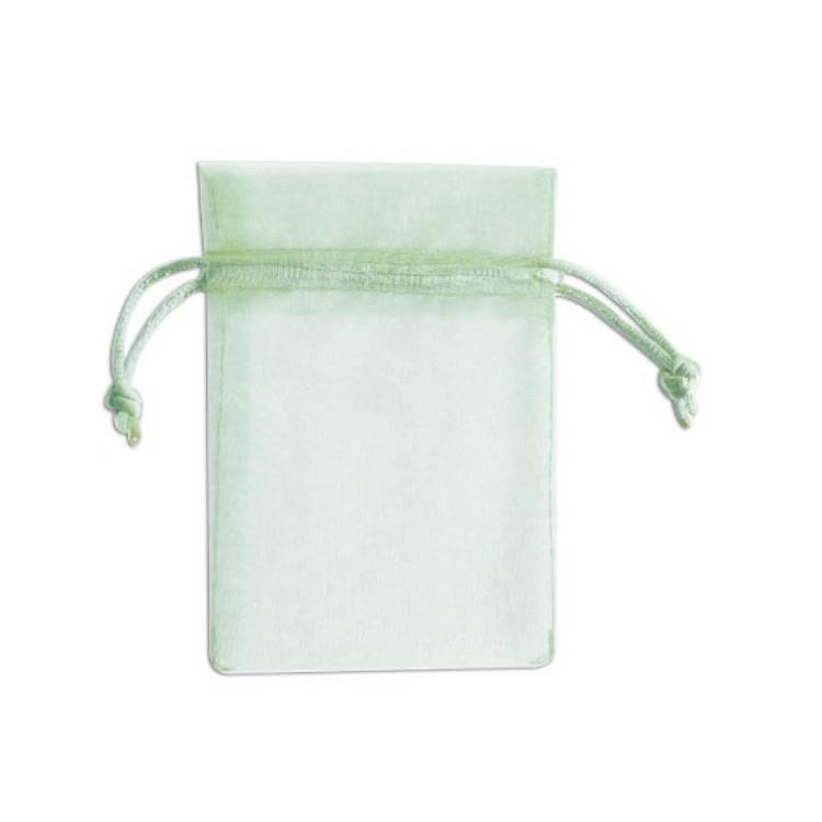 簡單生活-純色紗網禮物袋3入(小)-綠