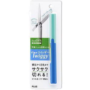 PLUS攜帶式筆型剪刀-藍