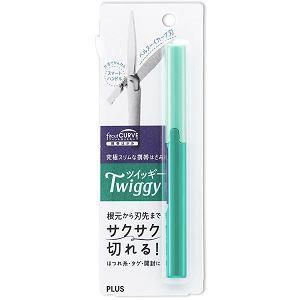 PLUS攜帶式筆型剪刀-綠
