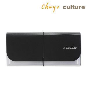 Leader-A6階梯式資料夾/黑(6版)