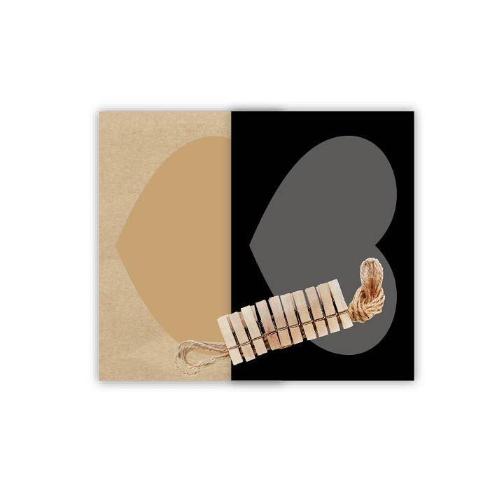 【青青】旅行時光-原色4**6心型紙相框組木夾
