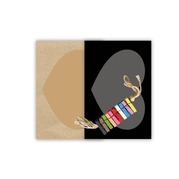 【青青】旅行時光-原色4**6心型紙相框組彩色木夾