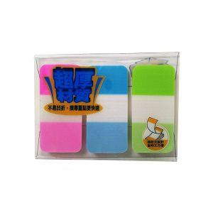 3M利貼可再貼耐用標籤-藍+黃+粉紅686-B