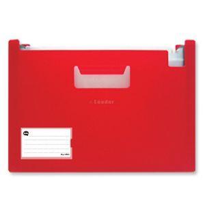 Leader-A4站立式風琴夾/12層/紅