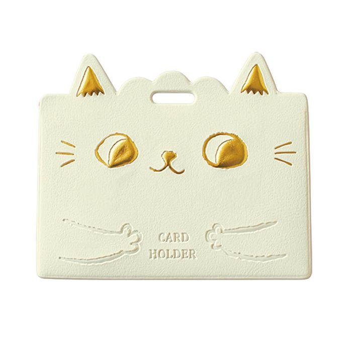 O-Cat貓耳橫式證件套-白