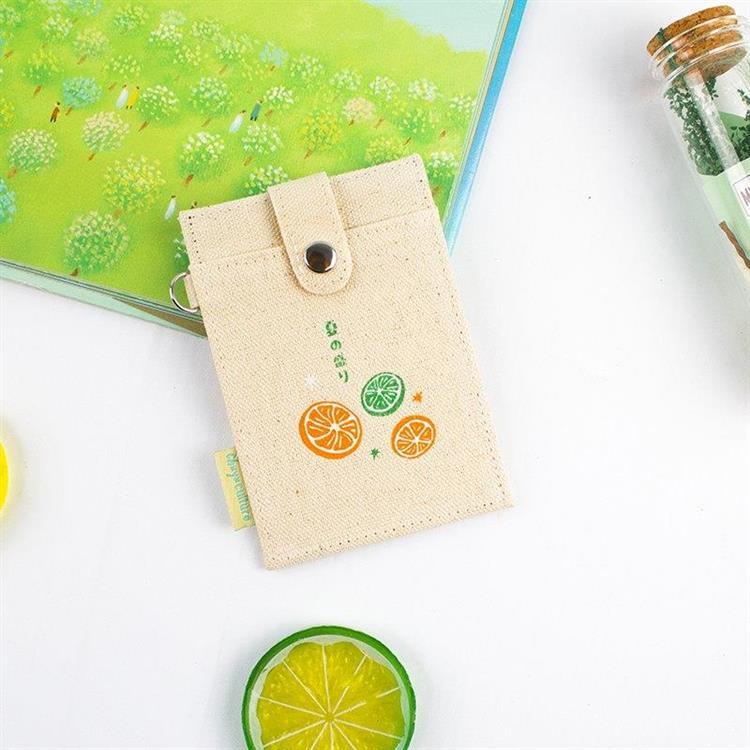 夏日風-布質扣式票卡夾-01水果