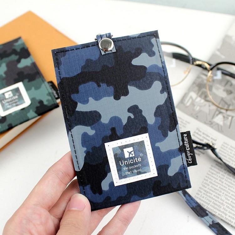 迷彩可調式(直式)證件套繩組-02藍