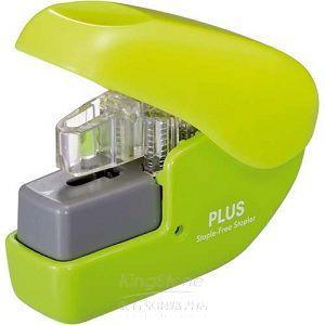 【PLUS】無針訂書機4枚-綠(SL-104NB)