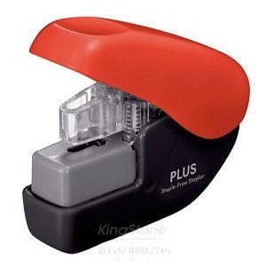 【PLUS】無針訂書機4枚-紅(SL-104NB)