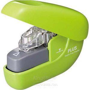 【PLUS】NEW無針訂書機6枚-綠(SL-106NB)