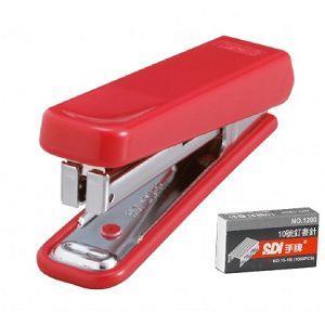 SDI 1105CA 紅 開運事務型訂書機(附針)