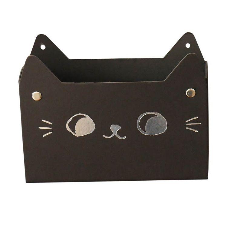 【九達】O-cat貓耳吸鐵置物盒-黑
