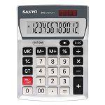 【SANLUX】12位大字鍵雙電源計算機-白