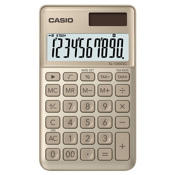 CASIO口袋時尚計算機-金