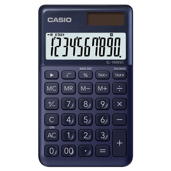 CASIO口袋時尚計算機-深藍