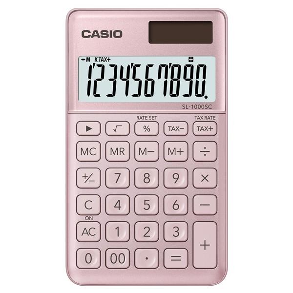 CASIO口袋時尚計算機-粉紅