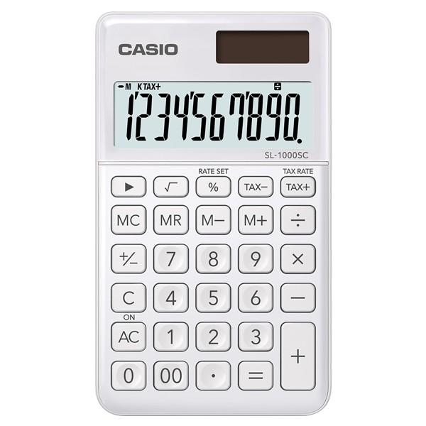 CASIO口袋時尚計算機-白