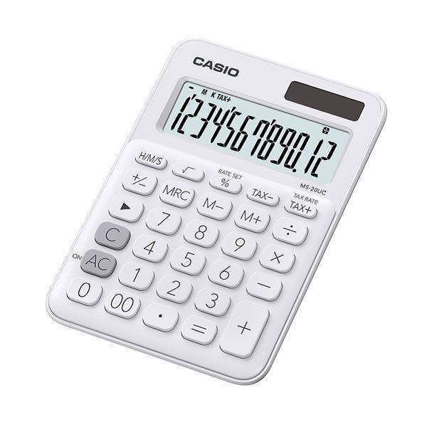 CASIO 馬卡龍計算機-白