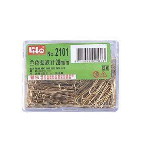 LIFE豪華型金色迴紋針NO.2101
