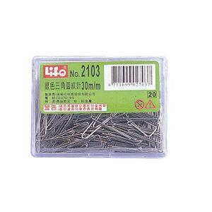 LIFE豪華型銀色三角迴紋針NO.2103