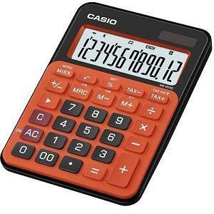 CASIO小款桌上型彩色計算機-黑橘色