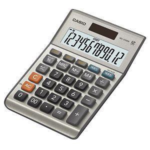 CASIO桌上型小款計算機-銀色(12位數)
