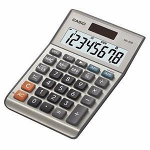 CASIO桌上型小款計算機-銀色(8位數)