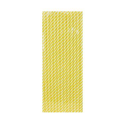 【青青】簡單生活-25入紙吸管-黃條紋
