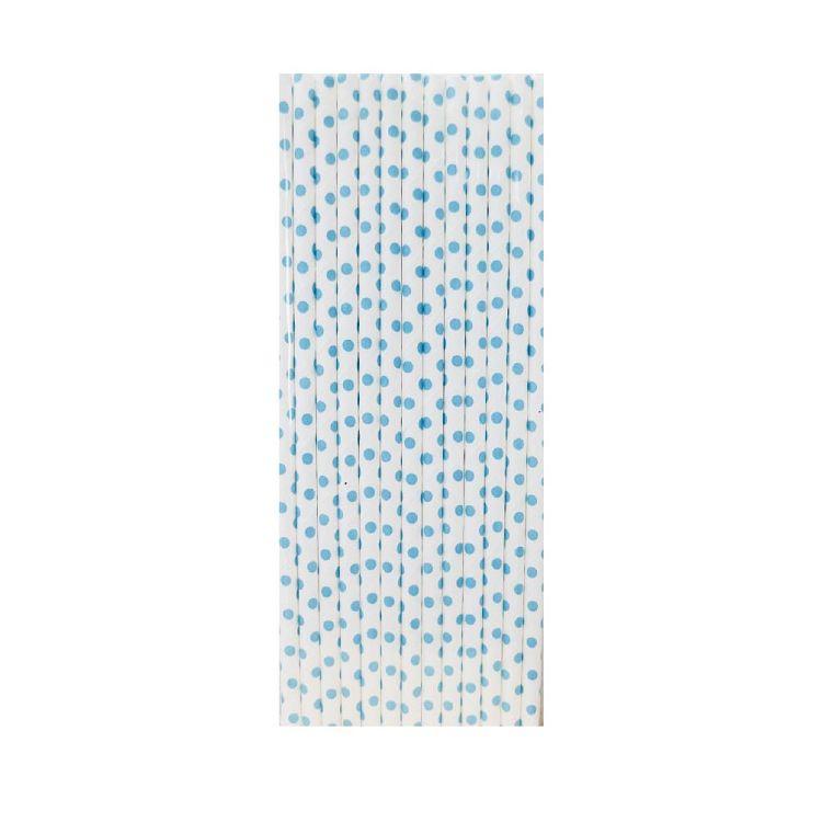 【青青】簡單生活-25入紙吸管-藍點