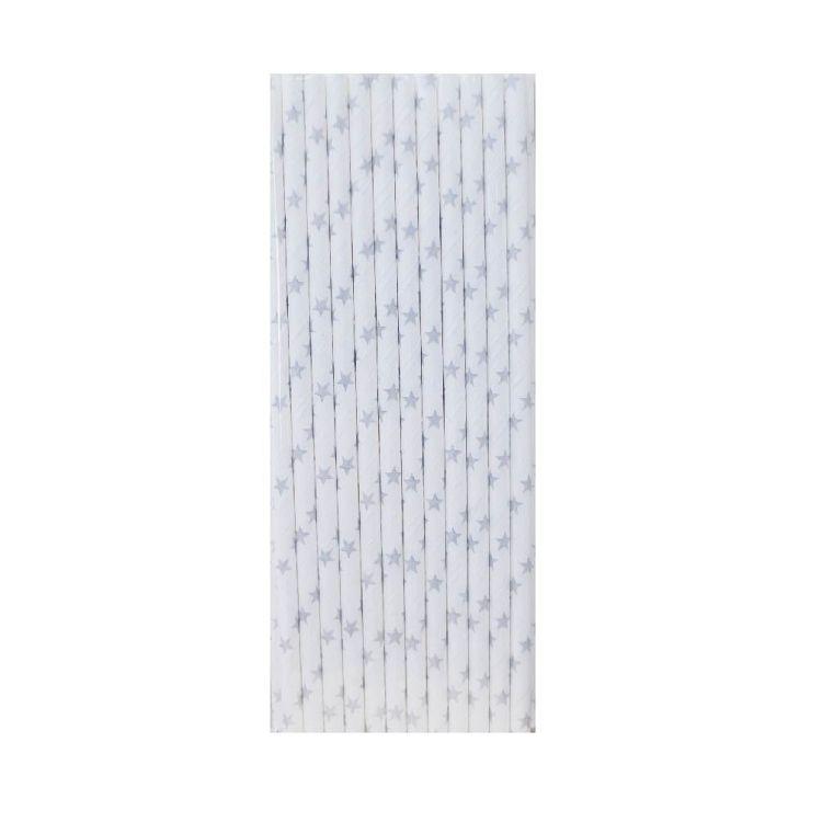 【青青】簡單生活-25入紙吸管-銀星