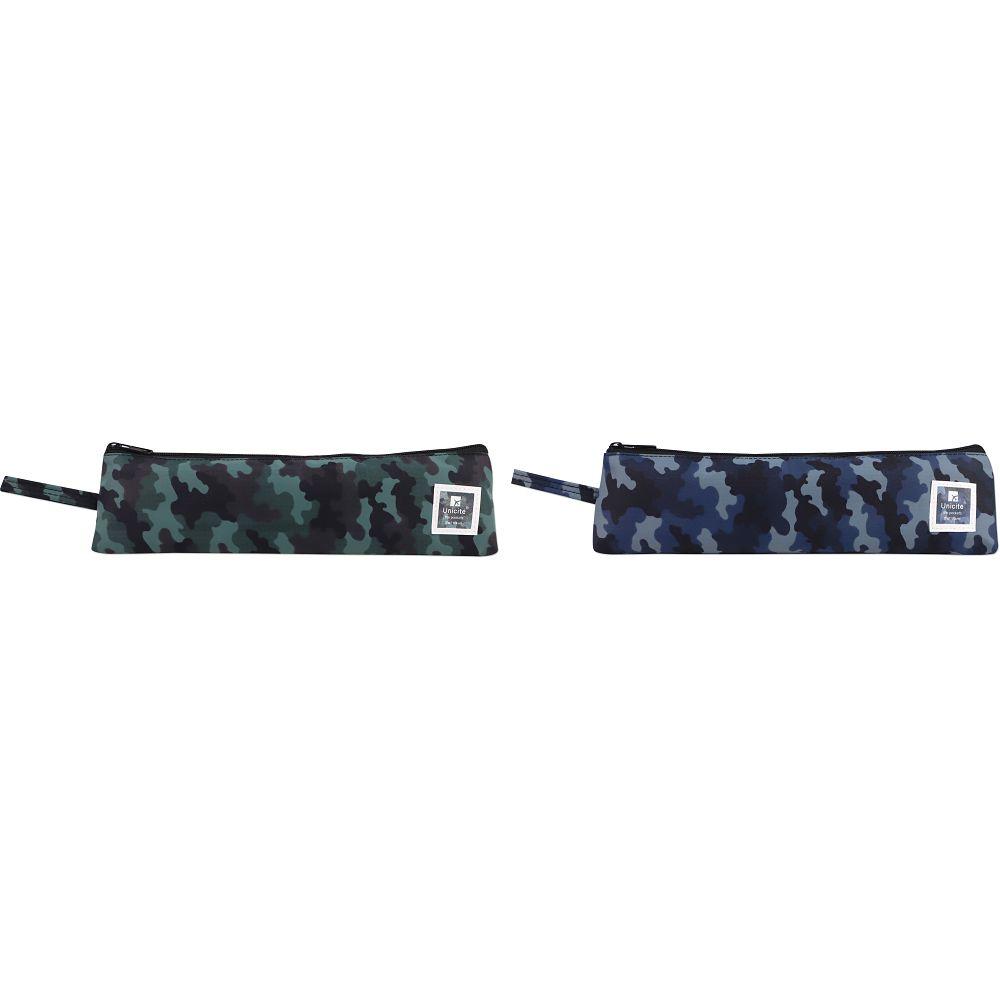 迷彩加長餐具收納袋-02藍