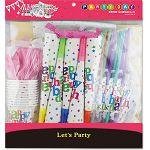 【珠友】派對佈置-生日套裝組10人份
