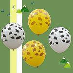 【珠友】派對佈置12吋圖案氣球/4入-斑紋