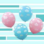 【珠友】派對佈置12吋圖案氣球/4入-雲朵