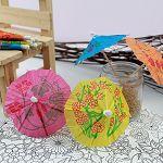 【珠友】派對佈置-蛋糕插旗雨傘造型100入