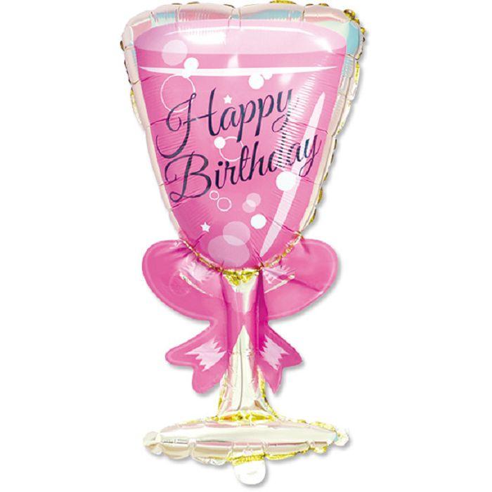 【珠友】派對佈置-鋁箔生日酒杯氣球